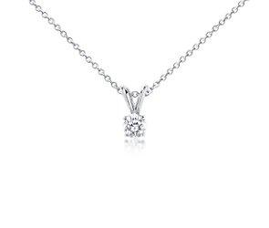 Solitaire Diamond Pendant in Platinum (1/2 ct. tw.)