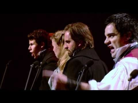 """""""One Day More"""" from the 25th anniversary concert of """"Les Miserables"""" performed by Aflie Boe; Jenny Galloway; Katie Hall; Matt Lucas; Nick Jonas; Norm Lewis; Ramin Karimloo and Samatha Barks."""