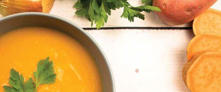 Οι συνταγες του Holmes Place Cafe: Βελουτε σουπα γλυκοπατατας