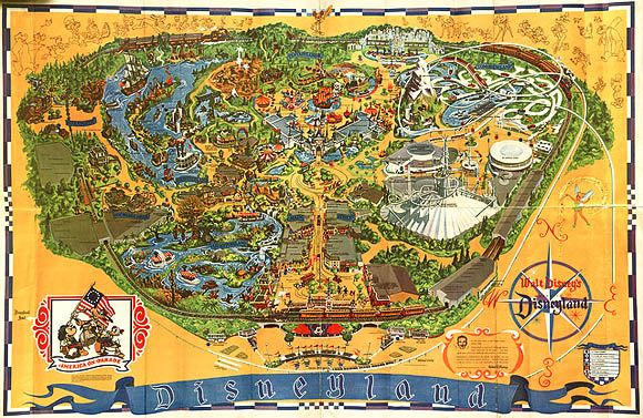 Disneyland's Vintage Maps and the Kodak Camera Tour in 1950s | Wedding Photography Design