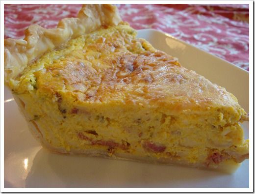 pumpkin quiche with bacon and asparagus