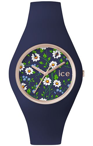 Ice Watch Ice Collections Ice-Flower Daisy - Unisex ICE.FL.DAI.U.S.15 pink gold details, flowered texture, mineral glass. #Ice #Watch #klepsoo