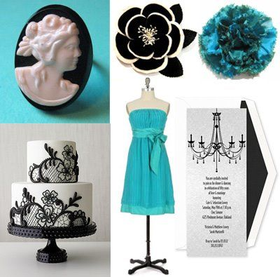 Black And Teal Wedding Ideas   The Wedding Specialists