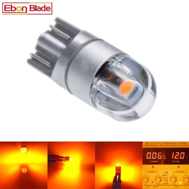 2 4 Pcs T10 W5w 5w5 Led Bulb 3030 Smd T 10 168 Car Accessories Clearance Light Reading Lamp Auto 12v Amber Yellow Orange Mo Reading Lamp Led Bulb Reading Light