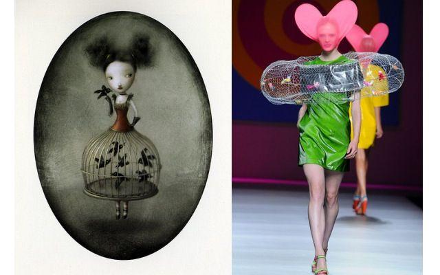 Las Chicas Corazón de Agatha Ruiz de la Prada, un desfile de cuadros andantes | Blog de moda y videoblog de belleza - La Bruja con tacón de aguja