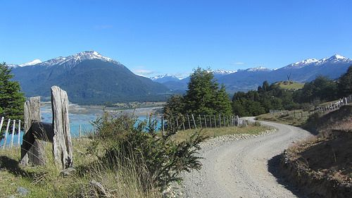 Sur la Carretera australe en Patagonie.