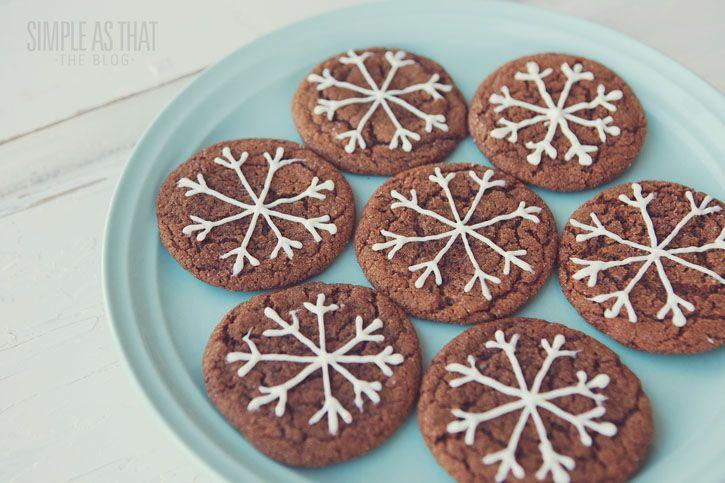 Ginger Crinkle Snowflake Cookies - simple as that
