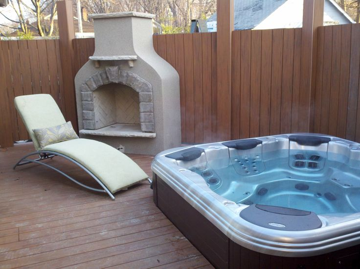 17 best images about outdoor hot tubs on pinterest fence for Outdoor spa decorating ideas