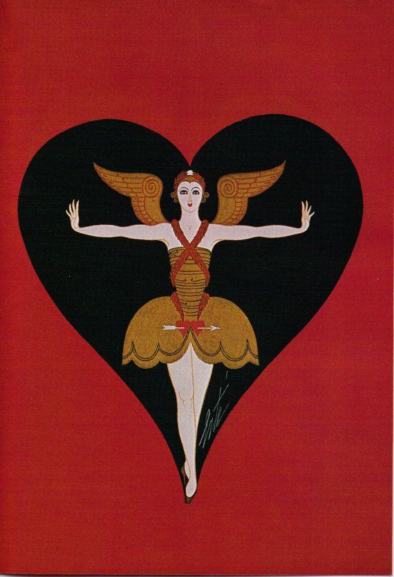 Erté Print Book Plate 1920's Art Deco Dress by Victorianaprint