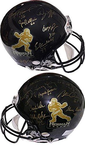 Heisman Trophy Winners signed Black Riddell Full Size Authentic Helmet with 21 Signatures w/ inscriptions >>> Continue to the product at the image link.