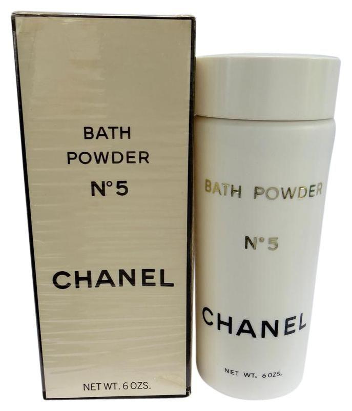 RARE VINTAGE  CHANEL - NO 5 - 6OZ Bath Powder. Free shipping and guaranteed authenticity on RARE VINTAGE  CHANEL - NO 5 - 6OZ Bath PowderRARE - CHANEL No5 Bath Powder 6 oz.  $ 175    Extr...
