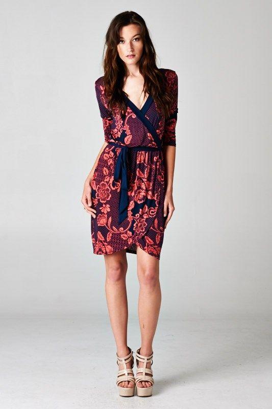 Valentina Surplice Dress   Awesome Selection of Chic Fashion Jewelry   Emma Stine Limited