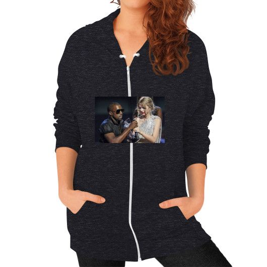 Kanye Taylor Zip Hoodie (on woman) Shirt