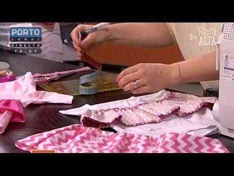 Vestido infantil c flor de tecido -parte 2- corte e confecção - YouTube
