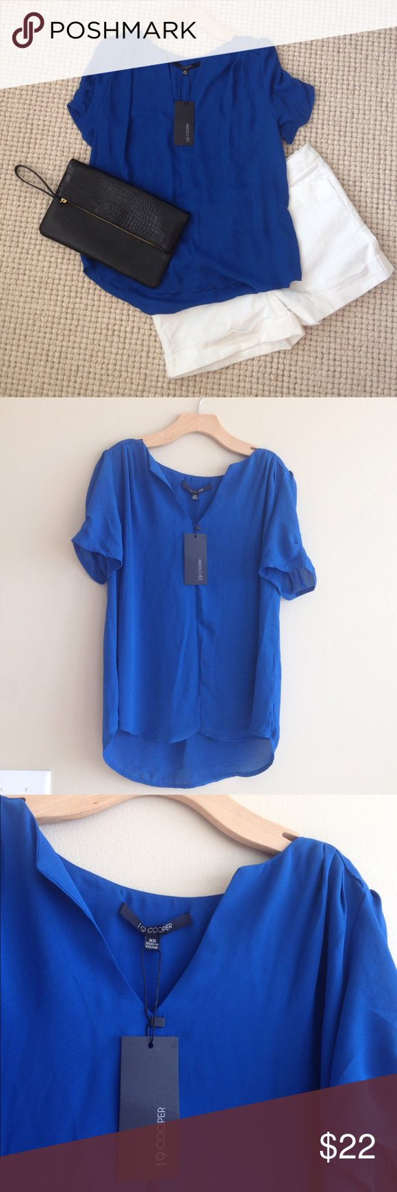 NWT! Stitch Fix 19Cooper Cobalt Blue Flowy Top Xs NWT! Stitch Fix 19Cooper Cobalt Blue Flowy Top. Xs. Perfect Summer Top for every occasion. Cute back pleat and ruching on shoulders. 19Cooper Tops Tees - Short Sleeve