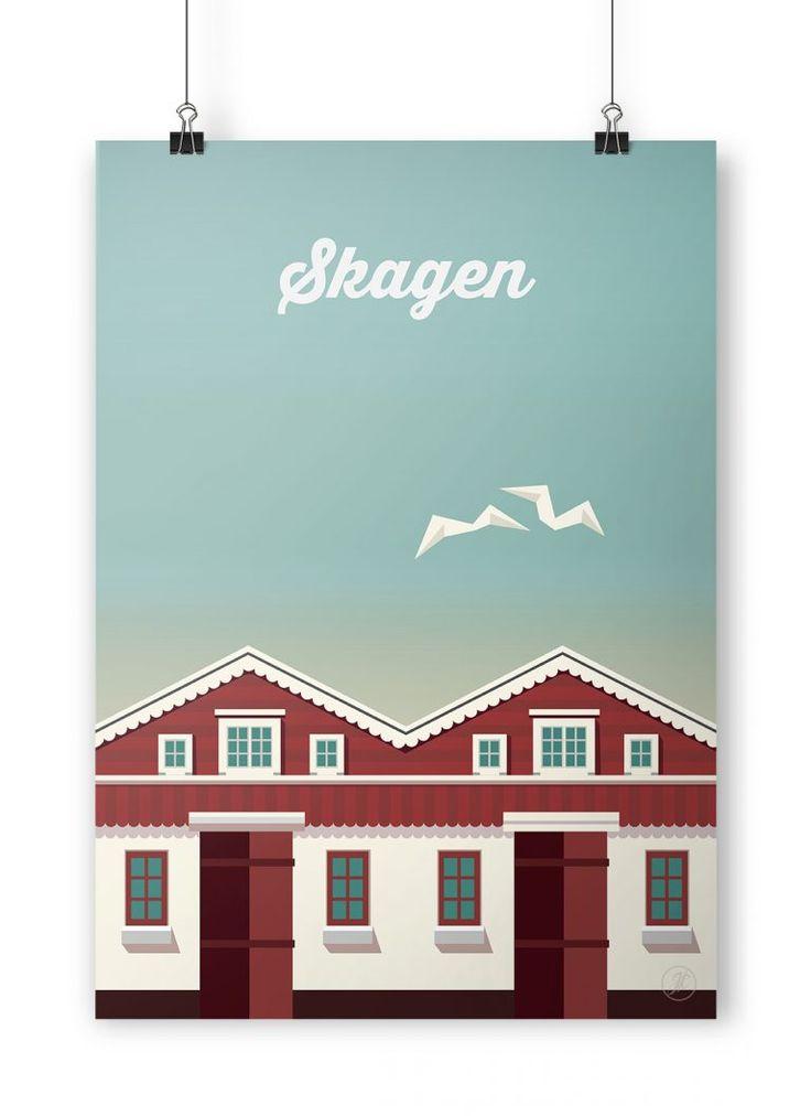 Skagen. poster, design, art, illustration, adobe, artwork, Denmark