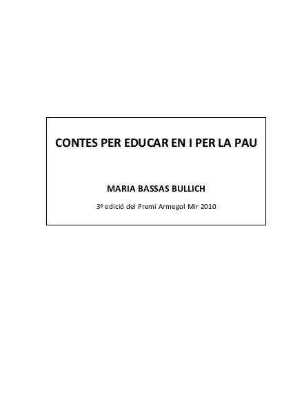 Contes per la pau by juliaallespons, via Slideshare