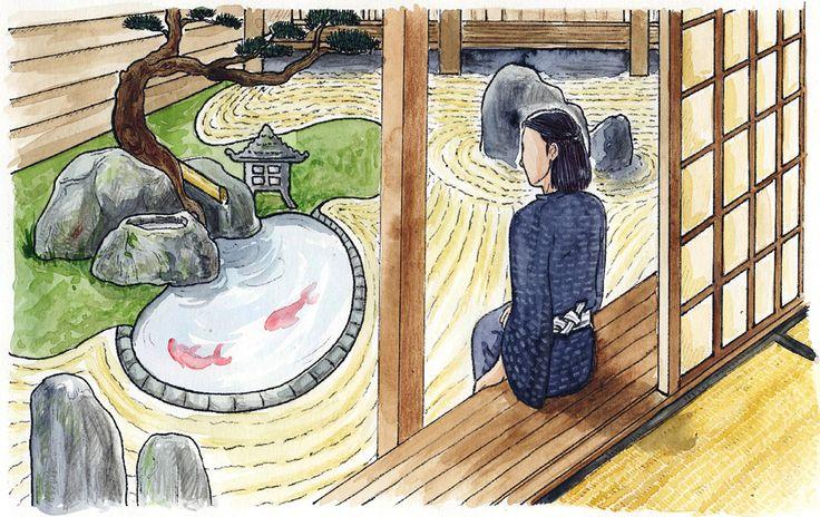 Achille Ublistane, élève d'origine japonaise, fait partie des rares élus ayant accès au jardin zen.
