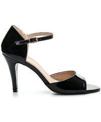 QUEEN VIVI Černé sandály na vysokém podpatku