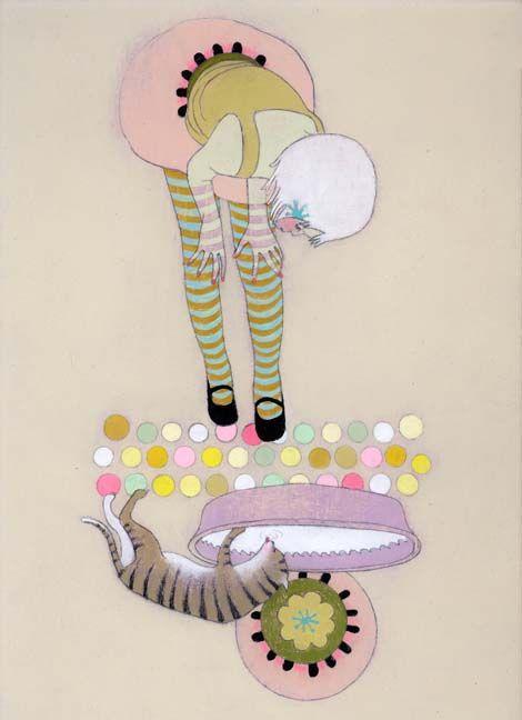 Jennifer DavisMo'N Davis, Artists, Colors Combos, Cat, Upsidedown Prints, Art Inspiration, Artsy Fartsy, Jennifer Davis, Art Illustration