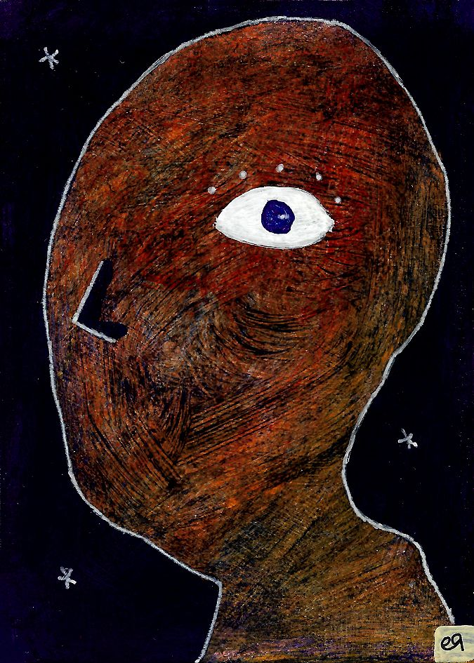 fear that my reflection is more me than me e9Art ACEO Art