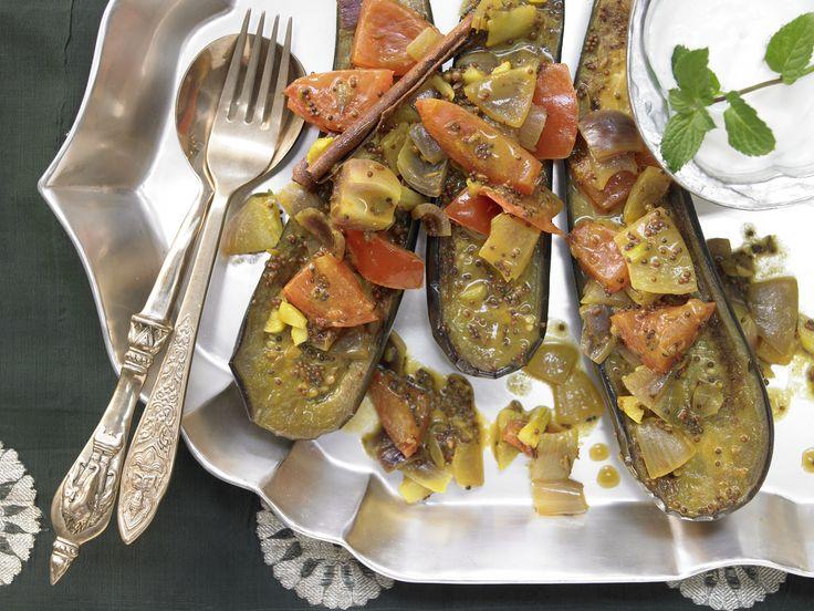 Indisches Auberginenragout - mit sieben Gewürzen - smarter - Kalorien: 202 Kcal - Zeit: 45 Min. | eatsmarter.de Eine tolle Beilage oder vegetarisches Hauptgericht.