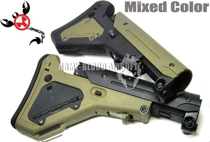 WORLD-ARMYBLOOD MAGPUL UBR Style Stock for M4/M16 AEG & GBB Series