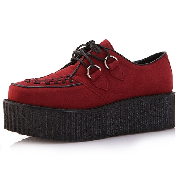 Womens Chunky Lace Up Punk Gothic High Platform Flat Creeper Casual Shoes 5-9 | eBay