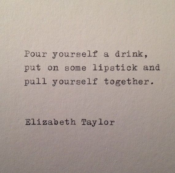 Elizabeth Taylor Quote Hand Typed on Vinatge by farmnflea on Etsy, $9.50
