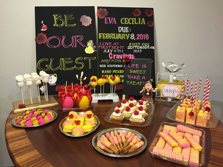 Sweets For My Beauty And The Beast Baby Shower In 2019 Girl Shower Baby Shower Baby Shower