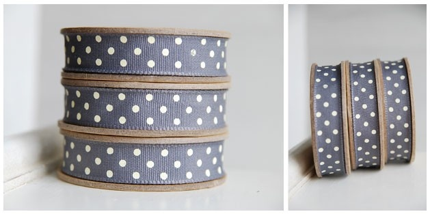 dark gray with dots - lovely