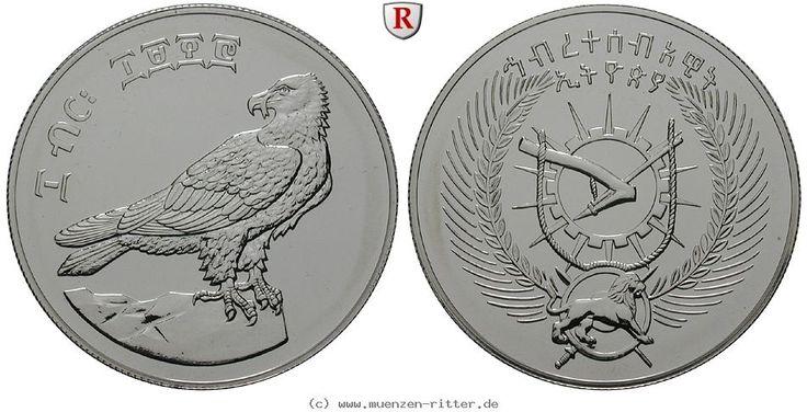 RITTER Äthiopien, 10 Birr 1978, Bartgeier, st #coins