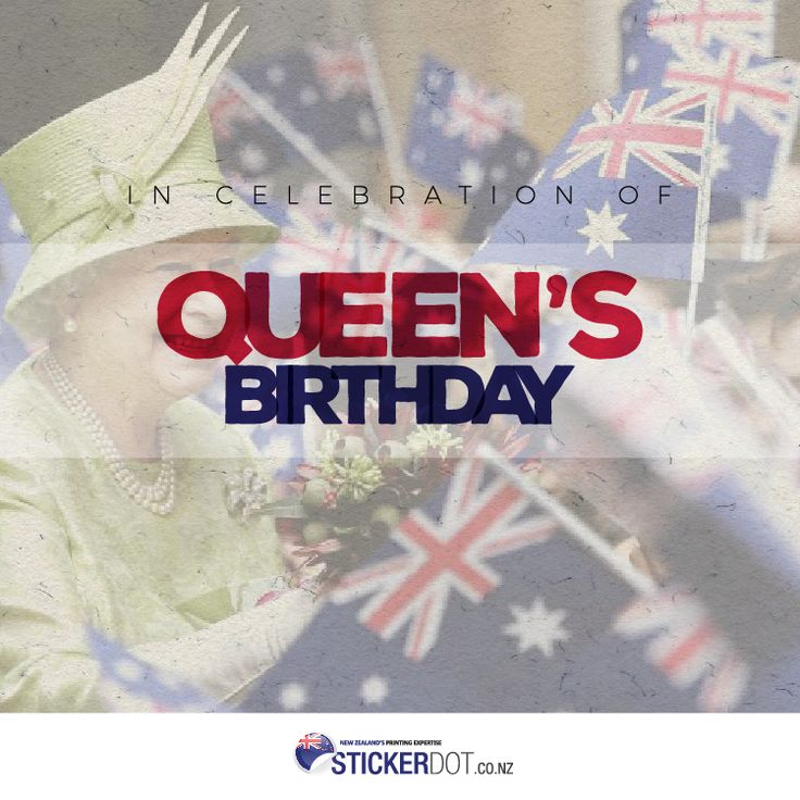 Have a great Queen's Birthday and long weekend everyone! #QueensBirthday #StickerDot #Holiday #MondayHoliday
