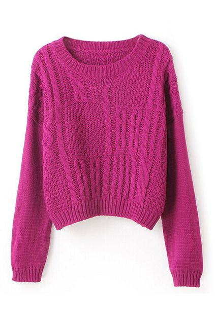 ROMWE | Twisted Purple Jumper