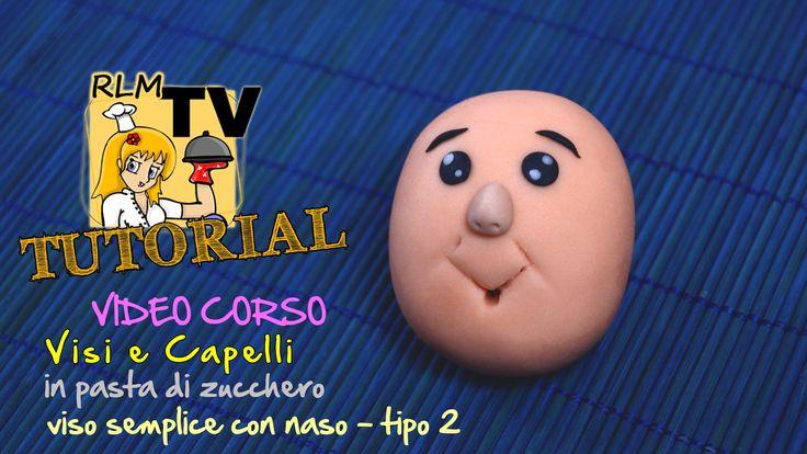 #VIDEO #CORSO: #Visi e #capelli in #pdz - #Viso semplice con #occhi e #naso - tipo 2