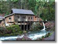 The Cedar Creek Grist Mill built in 1876 in 1876 - Woodland, WA