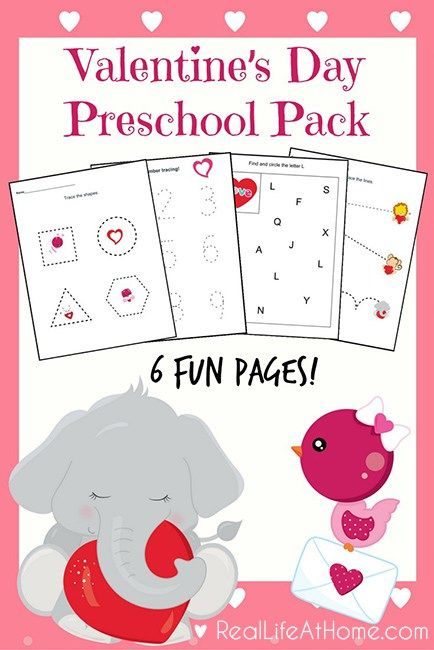 six page packet valentine 39 s day printables for preschoolers montessori. Black Bedroom Furniture Sets. Home Design Ideas