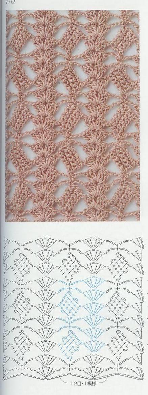 patrón puntadas crochet