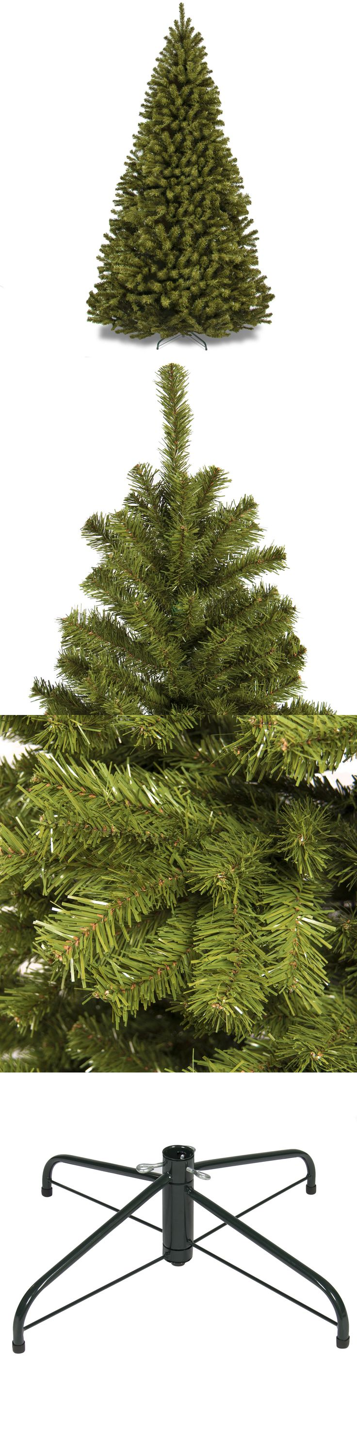 Artificial Christmas Trees 117414: 7.5 Ft. Premium Spruce Hinged Artificial Christmas Tree Holiday Decor With Stand -> BUY IT NOW ONLY: $99.99 on eBay!