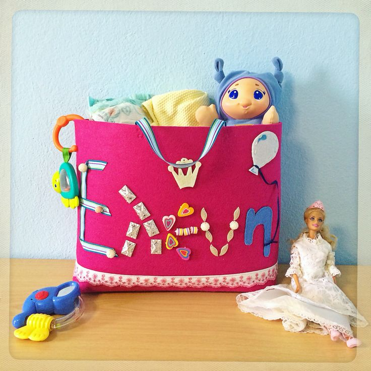 Unique handmade Toybag by eugenie.Perfect baby gift