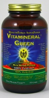 Vitamineral Green, 150 gm,   contains a number of green powdes from barley, dandelion, alfalfa leaf, basil etc. It detoxifies. Get ready to have a really clear mind if you take this stuff.