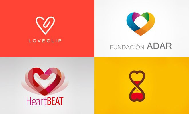 40 Best and Creative LOVE themed logo designs for your inspiration. #design #art #logo