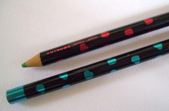 Kutsuwa Hearts Pencils 80s Pops Club Colors Japanese by JirjiMirji, €24.90