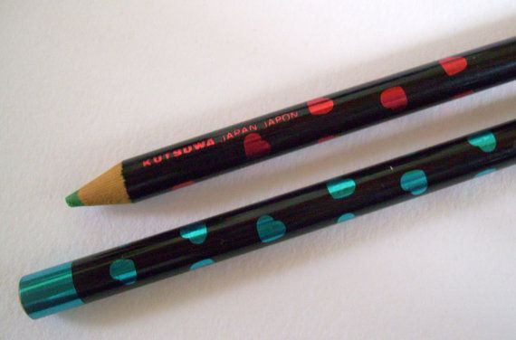 Kutsuwa Hearts Pencils 80s Pops Club Colors Japanese by JirjiMirji, €24.90