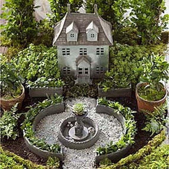 Miniature Garden Formal English Garden Planter Set Or Fountain
