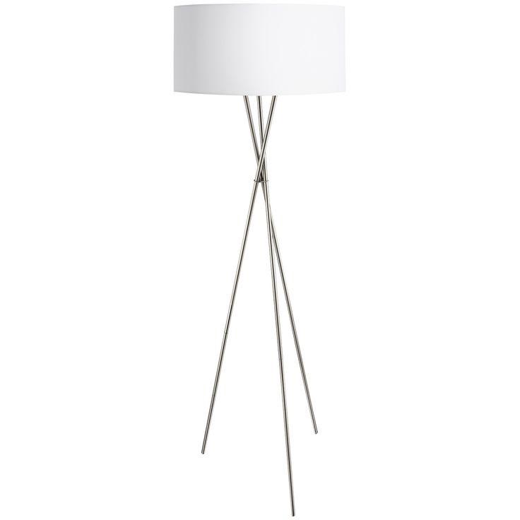 Lámpara de pie de diseño contemporáneo fabricada en acero lacado en blanco y pantalla textil blanca. Una lámpara Urban 100% perfecta para añadir elegancia y sofisticación a tu salón.  Tiene una altura de 151,5cm y un diámetro de 51cm.