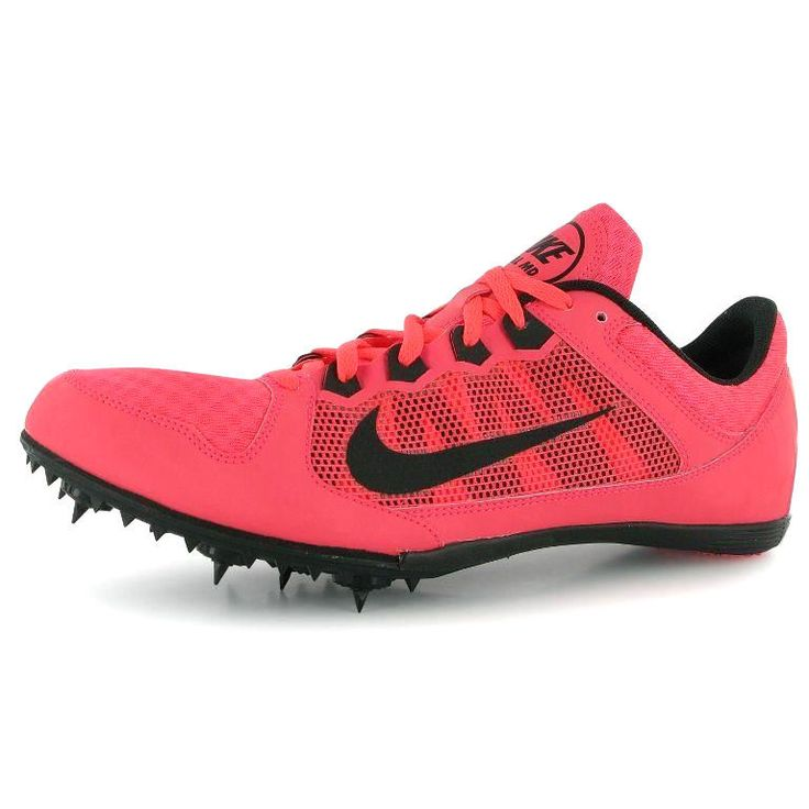 Mens Nike Rival MD Middle Distance Track Spikes Size 10 Atomic Red (Pink) #