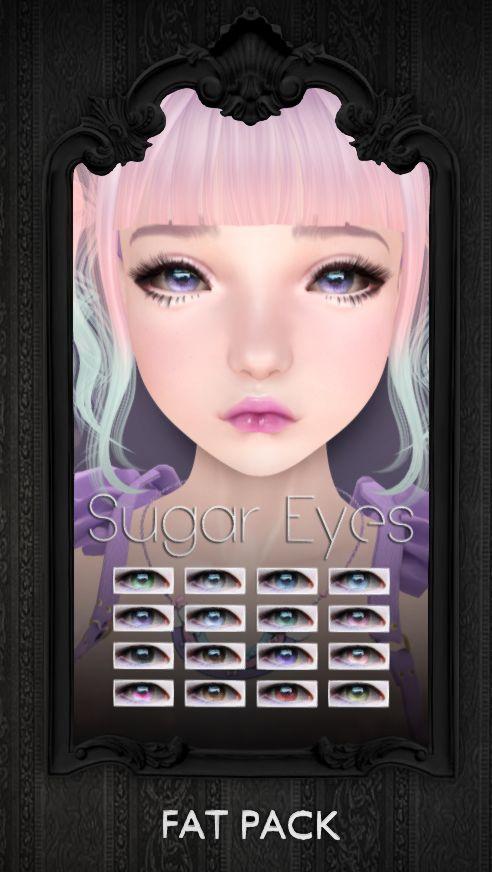 {S0NG} :: Sugar Eyes $50L per color Visit {S0NG} @ .tsg. Mall http://maps.secondlife.com/secondlife/The%20Emporium/183/158/490
