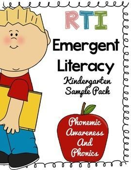 Kindergarten RTI Emergent Literacy - Phonemic awareness and phonics*** FREEBIE SAMPLE PACK***This packet is a systematic way of teaching Phonemic awareness.Only spend about five to ten minutes a day on this. Its an intensive phonics intervention packet that will help beginning readers or poor readers in need of training.
