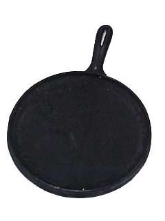 """Comal - Cast Iron Plate Round $27.95 this is a """"must have"""" in my kitchen. Great for grilled cheese sandwiches, warming up tortillas, fajitas, etc."""
